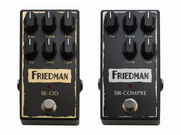 【Friedman/BE-OD & SIR-COMPRE】極上の真空管アンプならではの音色をコンパクト・ペダルで実現!