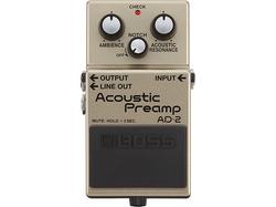 【BOSS/AD-2 Acoustic Preamp】アコギ本来の自然な鳴りと美しい響きを実現する待望のプリアンプ登場!