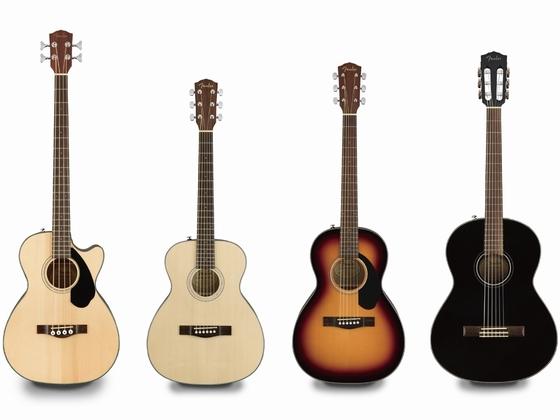 "【Fender】""CLASSIC DESIGN""シリーズにアコギ&エレアコ、エレガット、アコ・ベースの新機種が一挙登場!"