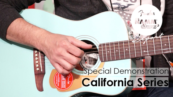 【Fender/NAMM2018】California Seriesを弾く!