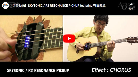 【1分動画】SKYSONIC / R2 RESONANCE PICKUP featuring 有田純弘