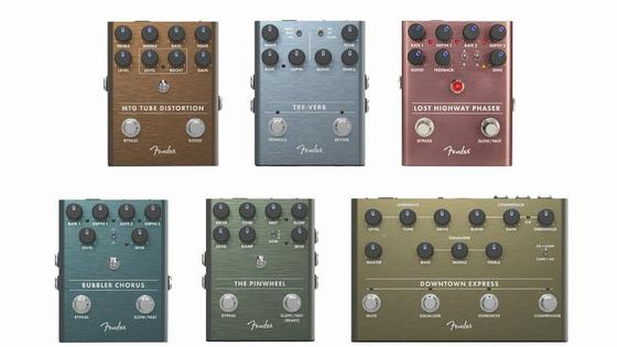 【Fender/BUBBLER CHORUS、LOST HIGHWAY PHASER、etc.】全6機種が新登場!