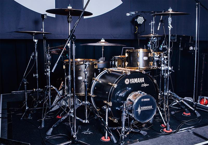 Bunta(TOTALFAT)のドラム・セット
