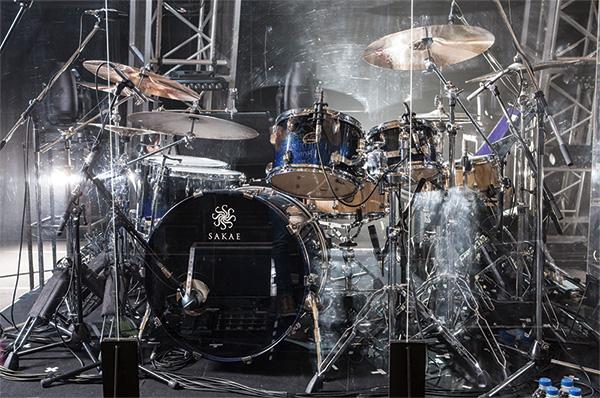 チャーリー・パクソンのドラム・セット