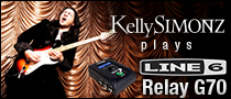 Kelly SIMONZ plays Line 6 Relay G70