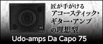 匠が手がけるアコースティック・ギター・アンプの理想型 Udo-amps Da Capo 75